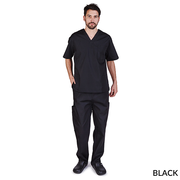 835ab182fe7 UNISEX SOLID V-NECK SCRUB SET (STYLE# BP102-MEN) - Natural Uniforms