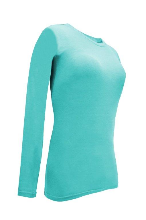 Aqua Blue tee uniform stretchy fit shaped cotton soft uniform Shirt