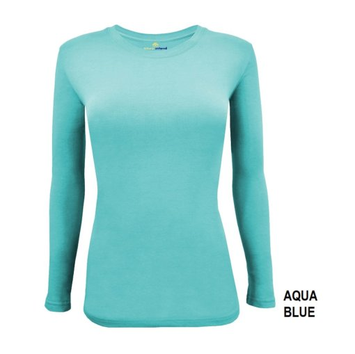 Aqua Blue tee uniform Shirt