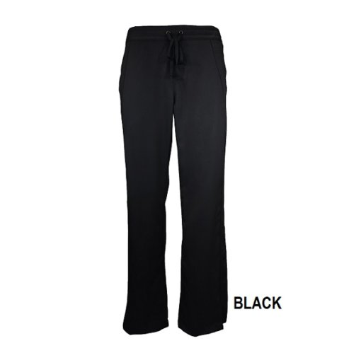 Black Drawstring Scrub Pant Natual Uniforms Soft Modern Fit 2 Pocket