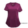 Burgundy Mock Wrap Scrub Top Shirt Soft