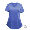 Ceil Blue Mock Wrap Scrub Top Shirt Soft