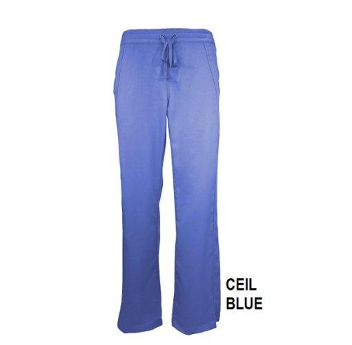 Ceil Blue Womens Soft Drawstring Scrub Pant Natual Uniforms Modern Fit