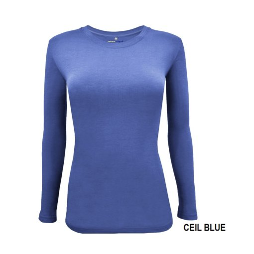 Ceil Blue t-shirt uniform stretch Scrub top
