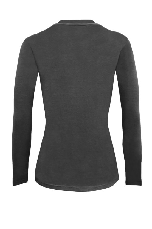 Charcoal Grey tee uniform stretchy fit shaped cotton soft uniform Shirt