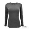 Charcoal Grey tee Scrub top stretch fit shaped cotton soft uniform Shirt