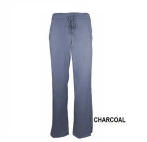 Charcoal Womens Soft Modern Fit 2 Pocket Drawstring Scrub Pant Natual Uniforms