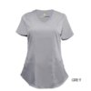 Grey Mock Wrap Scrub Top Shirt Soft