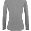 Grey t-shirt uniform stretchy fit shaped body cotton soft tee tees