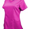 Hot Pink Ultra Soft Stretch Drop-Neck 2 Pocket Scrub Top