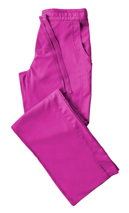 Hot Pink Drawstring Scrub Pant 2 Pocket