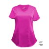 Hot Pink Mock Wrap Scrub Top Shirt Soft