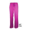 Hot pink Womens Soft Drawstring Scrub Pant Natual Uniforms Modern Fit