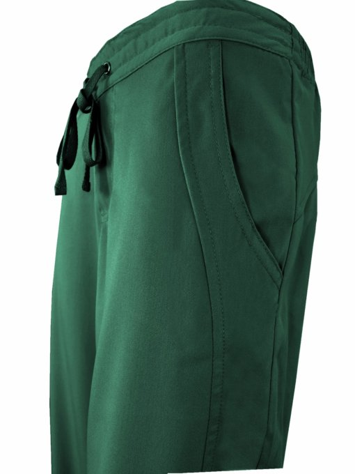 Hunter Green Drawstring Scrub Pant 2 Pocket