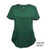 Hunter Green Ultrasoft Stretch Drop-Neck 2 Pocket Scrub Top