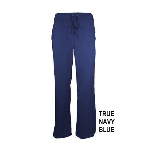 Navy Blue Womens Soft Drawstring Scrub Pant Natual Uniforms Modern Fit