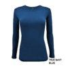 Navy Blue t-shirt under scrub uniform stretch