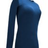 Navy Blue t-shirt uniform stretchy fit shaped body cotton soft