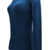 Navy Blue t-shirt uniform stretchy fit shaped body cotton soft