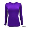 Purple t-shirt under scrub stretch fit shaped