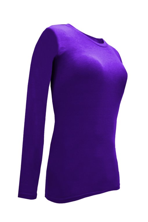 Purple t-shirt uniform stretchy fit shaped cotton soft uniform Shirt tee