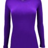 Purple t-shirt uniform stretch fit shaped cotton soft uniforms Shirt