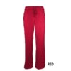 Red Womens Soft Drawstring Scrub Pant Natual Uniforms Modern Fit