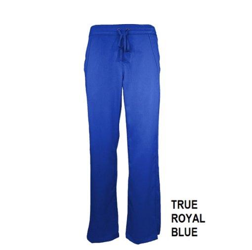 Royal Blue Scrub Pant Womens Soft Drawstring Natual Uniforms Modern Fit