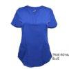 Royal Blue Ultrasoft Stretch Drop-Neck 2 Pocket Scrub Top
