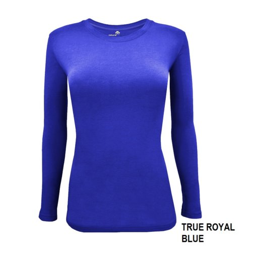 Royal Blue t-shirt under scrub tee