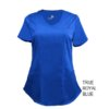 Royal Blue Mock Wrap Scrub Top Shirt Soft