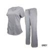 Set Grey Soft Modern Fit 2 Pocket Drawstring Scrub Pant