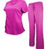 Set Hot Pink Soft Drawstring Scrub Pant Modern Fit