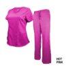 Set Hot Pink Soft Drawstring Scrub Pant