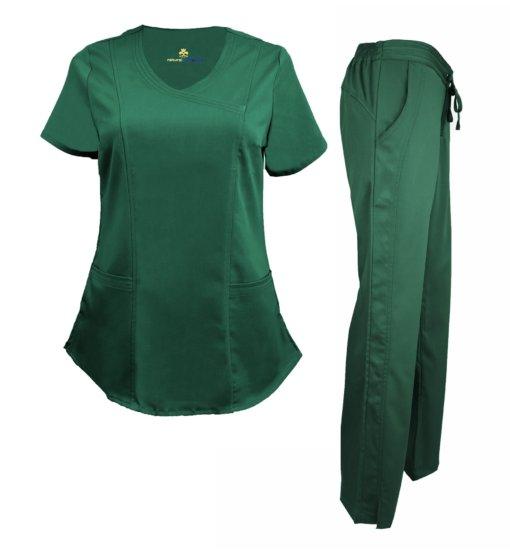 Set Hunter Green Scrub Pant Soft Drawstring