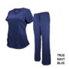 Set Navy Blue Soft Drawstring Scrub Pant
