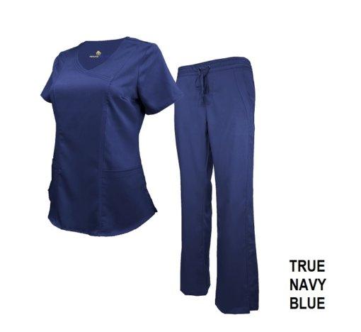 Set Navy Blue Soft Drawstring Scrub Pant