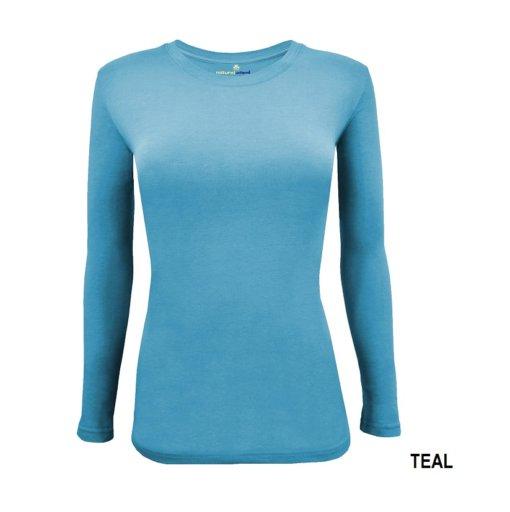 Teal Blue t-shirt under scrub tee