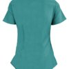 Teal Ultra Soft Stretch Drop-Neck 2 Pocket Scrub Top