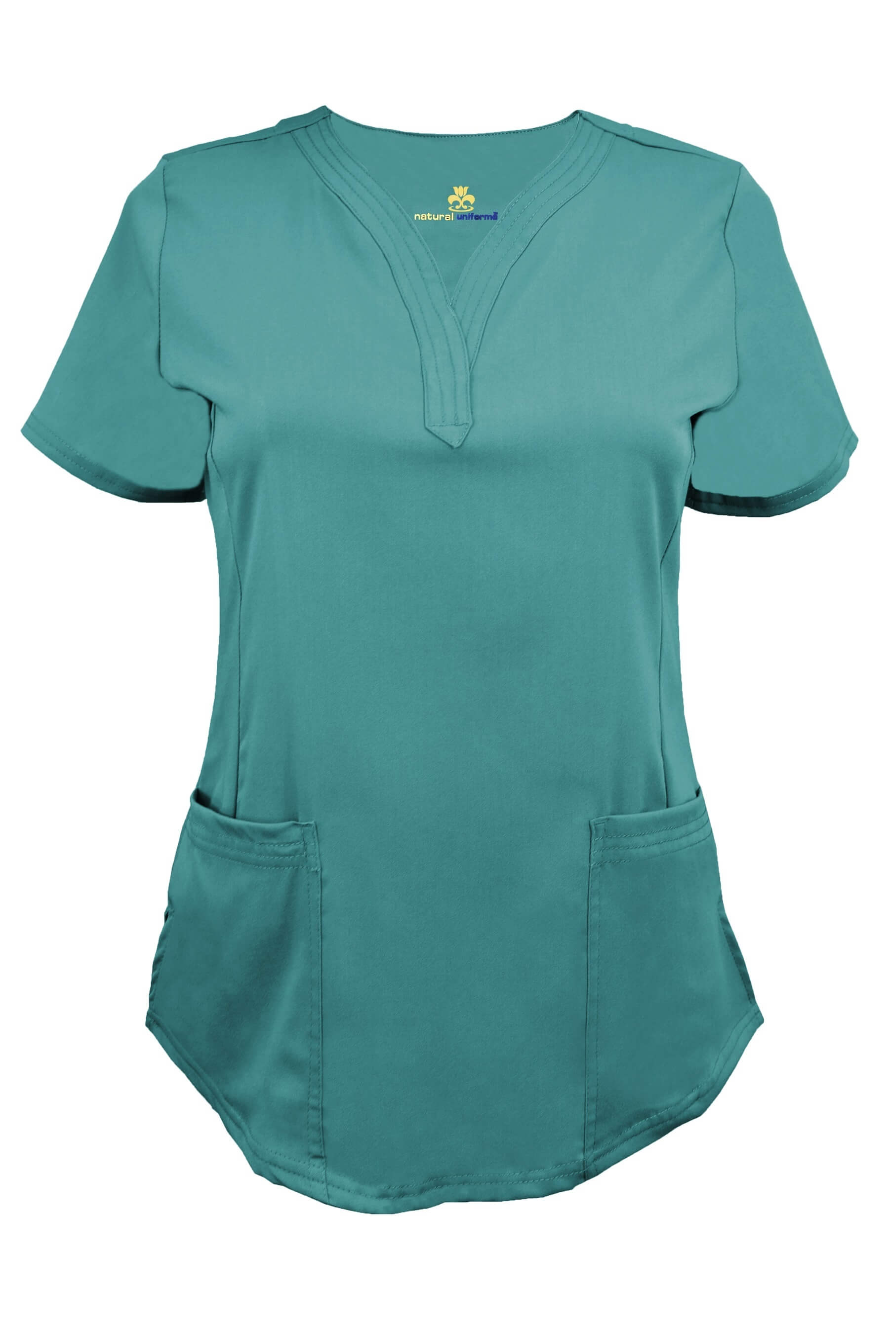 Ultrasoft Stretch Drop Neck 2 Pocket Scrub Top Style
