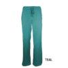 Teal Womens Soft Drawstring Scrub Pant Natual Uniforms Modern Fit