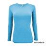 Water Blue t-shirt under scrub tee