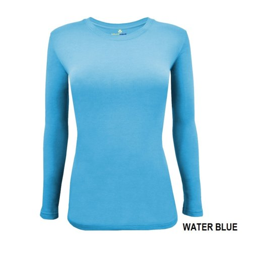 Water Blue t-shirt under scrub tee