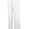 White Drawstring Scrub Pant 2 Pocket