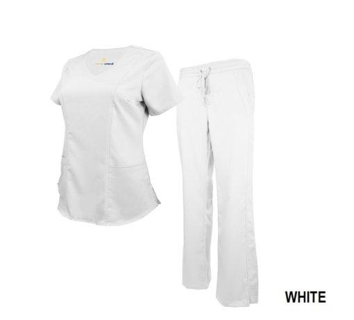 White Soft Drawstring Scrub Pant