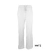 White Womens Soft Drawstring Scrub Pant Natual Uniforms Modern Fit