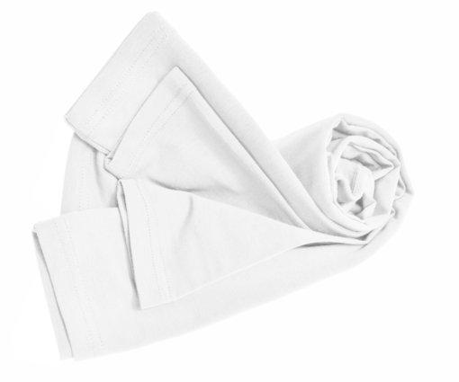 White tee uniform stretch fit shaped cotton soft uniform Shirt