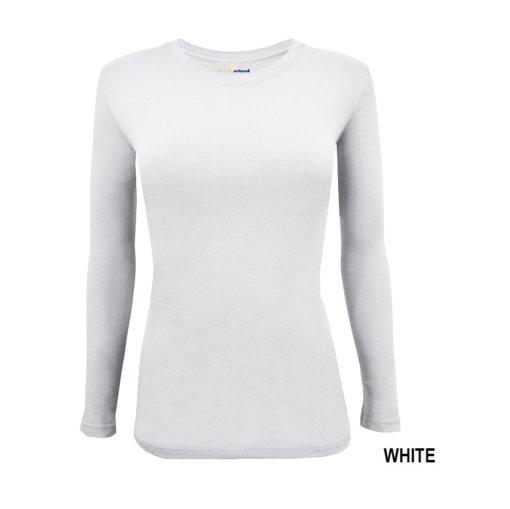 White tee uniform under scrub tee