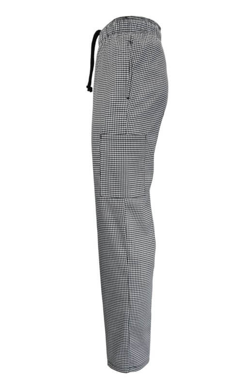 Houndstooth chef pant uniforms side pocket