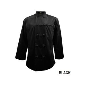 black chef coat set uniform 1